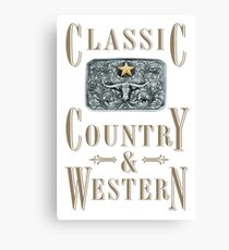 Classic Country & Western (Longhorn Star) Canvas Print