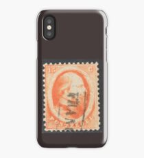 15c orange stamp (Netherlands, 19th century) iPhone Case
