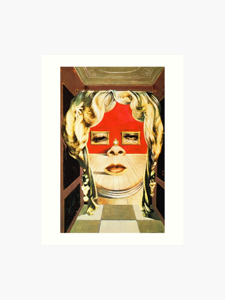 Salvador Dali Mae West Surrealist Famous Paintings