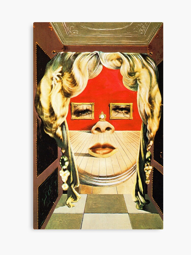 Salvador Dali Mae West Surrealist Famous Paintings | Canvas Print