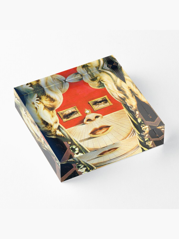 Alternate view of Salvador Dali Mae West Surrealist Famous Paintings  Acrylic Block