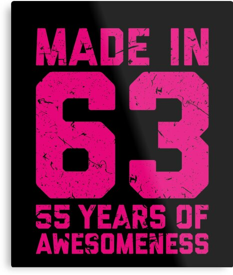 55th Birthday Gift Adult Age 55 Year Old Women Womens By Matt L