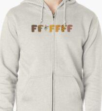 FFFFFFF - Celebration of Food Zipped Hoodie