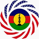 New Caledonian American Multinational Patriot Flag Series by Carbon-Fibre Media