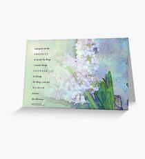Gelassenheits-Gebets-Hyazinthen-Mischung Grußkarte