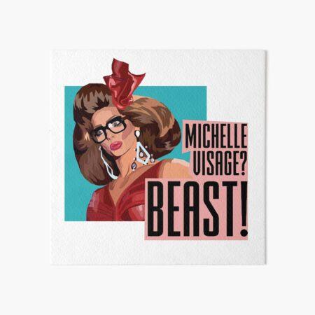 Michelle Visage? BEAST Alyssa Edwards Rupaul's Drag Race inspired design  Art Board Print