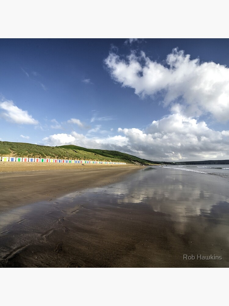 Woolacombe beach reflections by hawkie