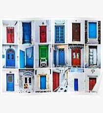Doors of Greece Poster