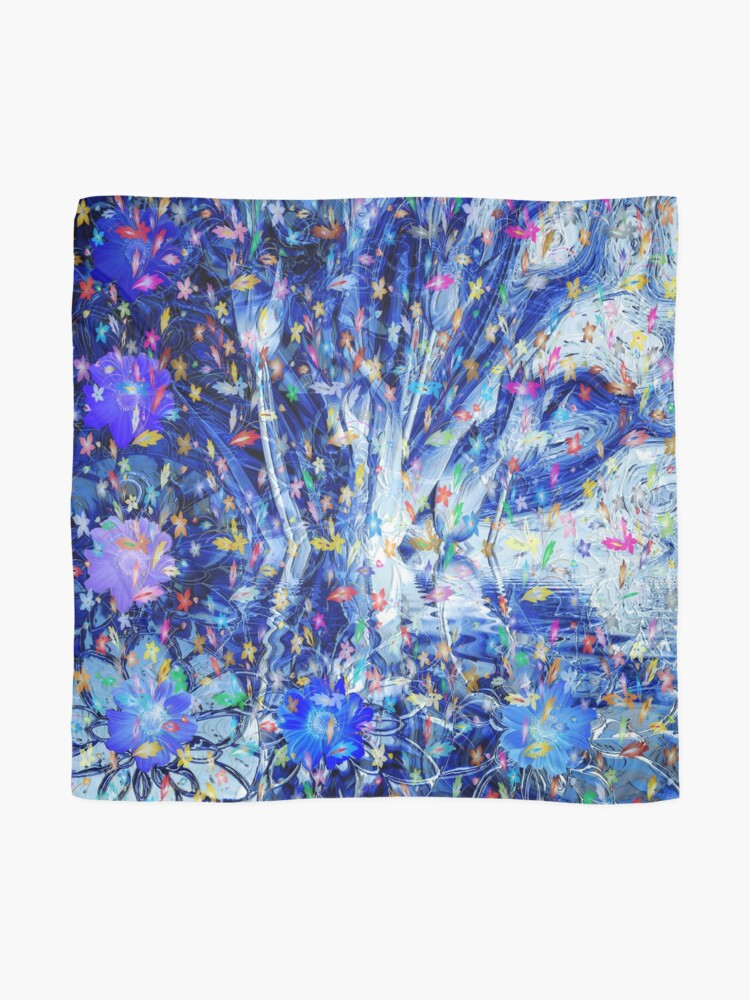 Alternate view of Water Petals ll Scarf