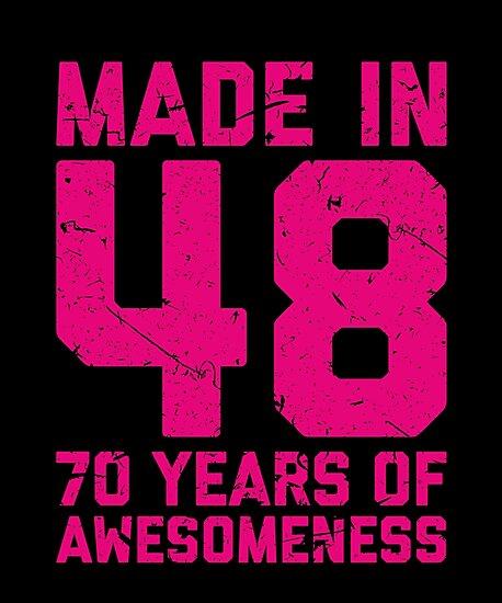 70th Birthday Gift Adult Age 70 Year Old Women Womens By Matt L