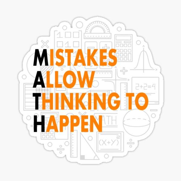 Math Mistakes Sticker