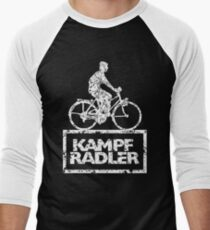 Cyclist Cyclist Riding Bicycle (Vintage White) Men's Baseball ¾ T-Shirt
