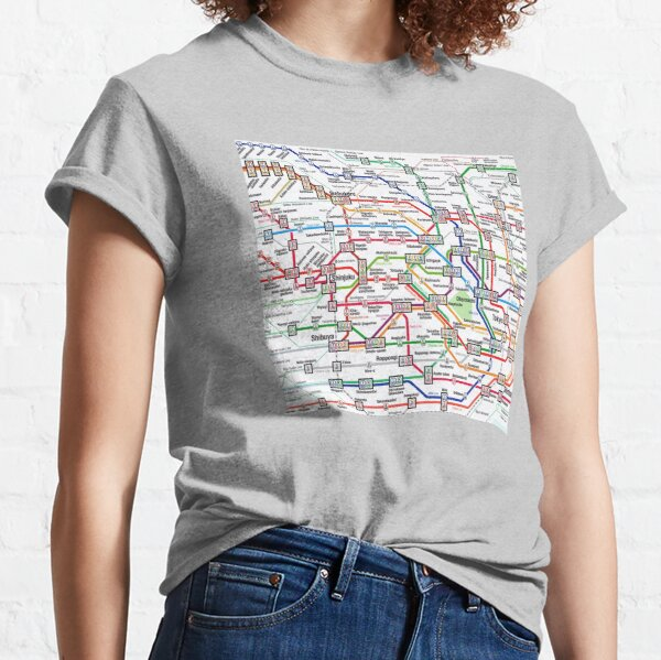 Tokyo Subway Map Clock Classic T-Shirt