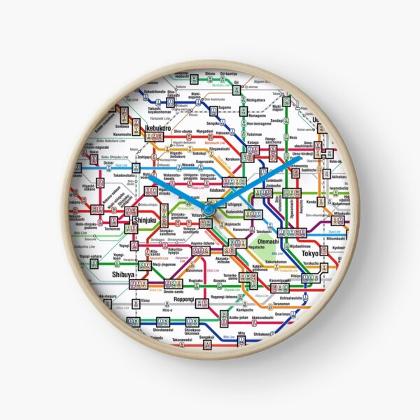 Tokyo Subway Map Clock Clock
