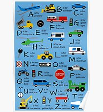 Planes, Trains, and Automobiles Alphabet - Customized Poster