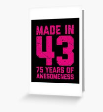 75th Birthday Gift Adult Age 75 Year Old Women Womens Greeting Card