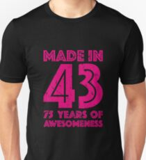 75th Birthday Gift Adult Age 75 Year Old Women Womens Unisex T Shirt