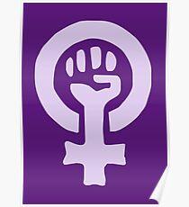 FEMINIST Slogan pattern design Poster