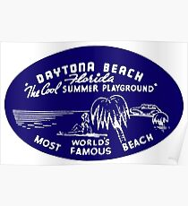 1940s Daytona Beach Florida Poster