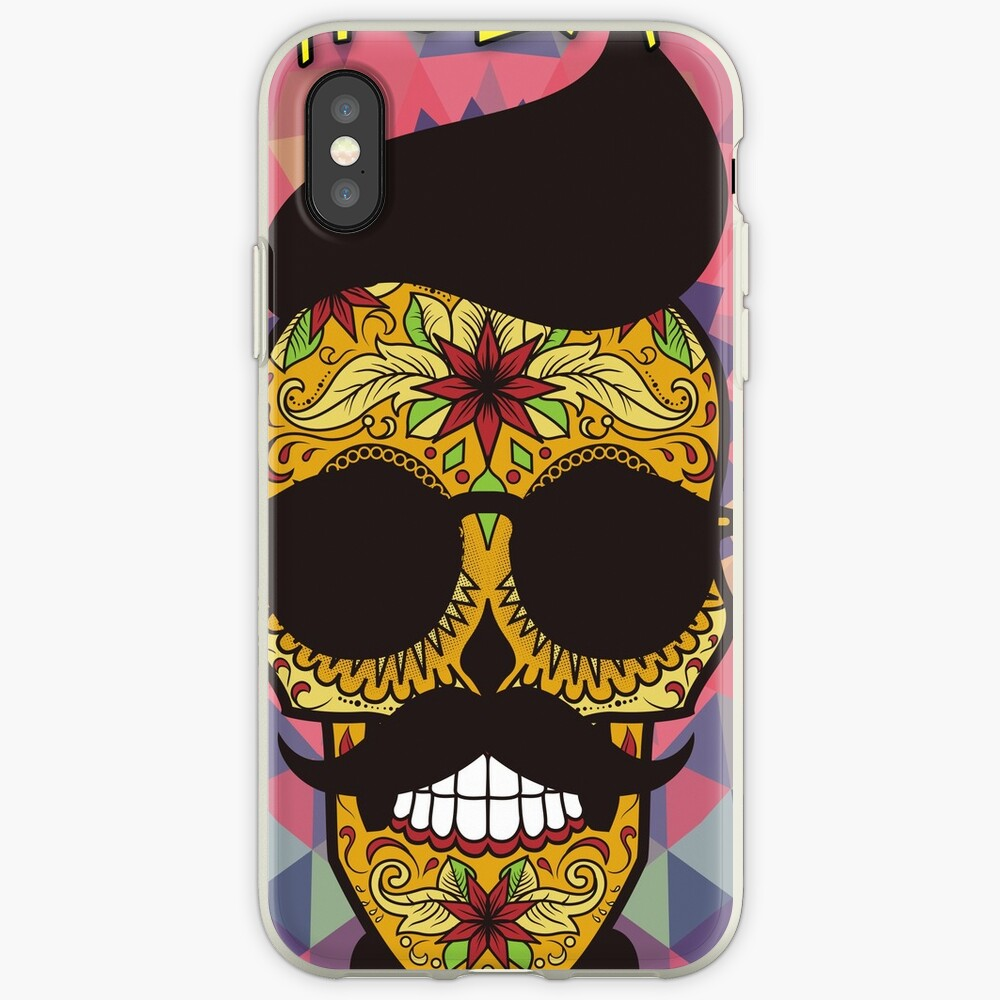 HOLA Day of the Dead art  - skull art iPhone Case & Cover