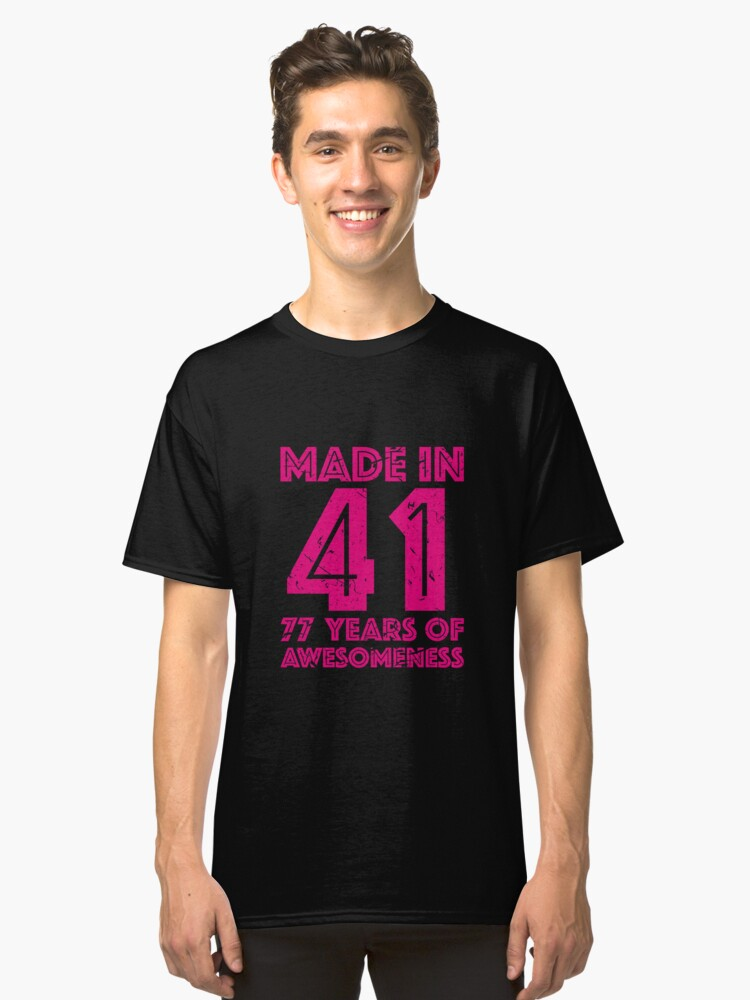 77th Birthday Gift Adult Age 77 Year Old Women Womens Classic T Shirt Front