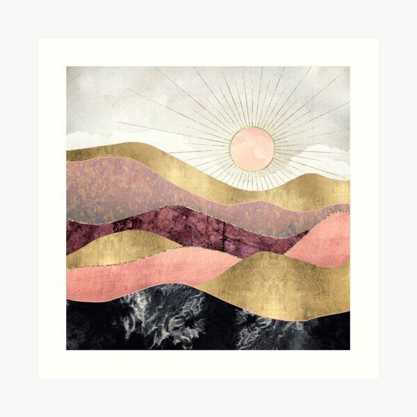 Blush Sun Art Print