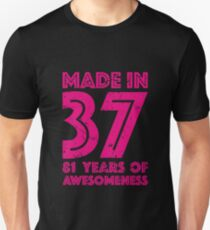 81st Birthday Gift Adult Age 81 Year Old Women Womens Unisex T Shirt