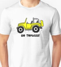Jeep - Go topless - Yellow Unisex T-Shirt