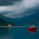 Peaceful Scene at the Bay of Kotor in Perast, Montenegro by Yen Baet