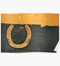 Lucky Gold Horse Shoe Poster