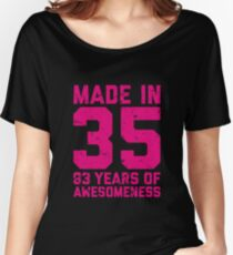 83rd Birthday Gift Adult Age 83 Year Old Women Womens Relaxed Fit T Shirt