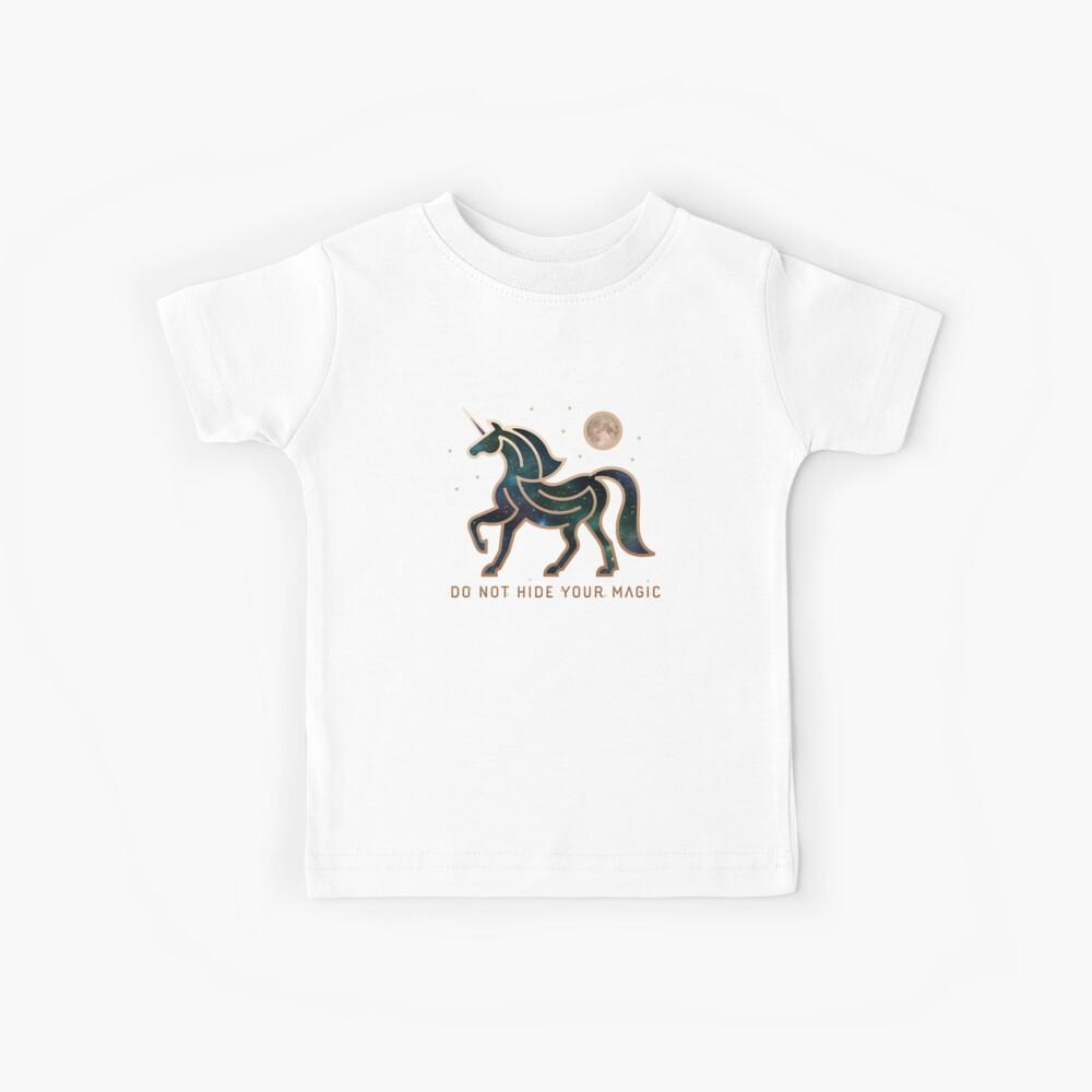 No ocultes tu magia - Unicornio galáctico Camiseta para niños
