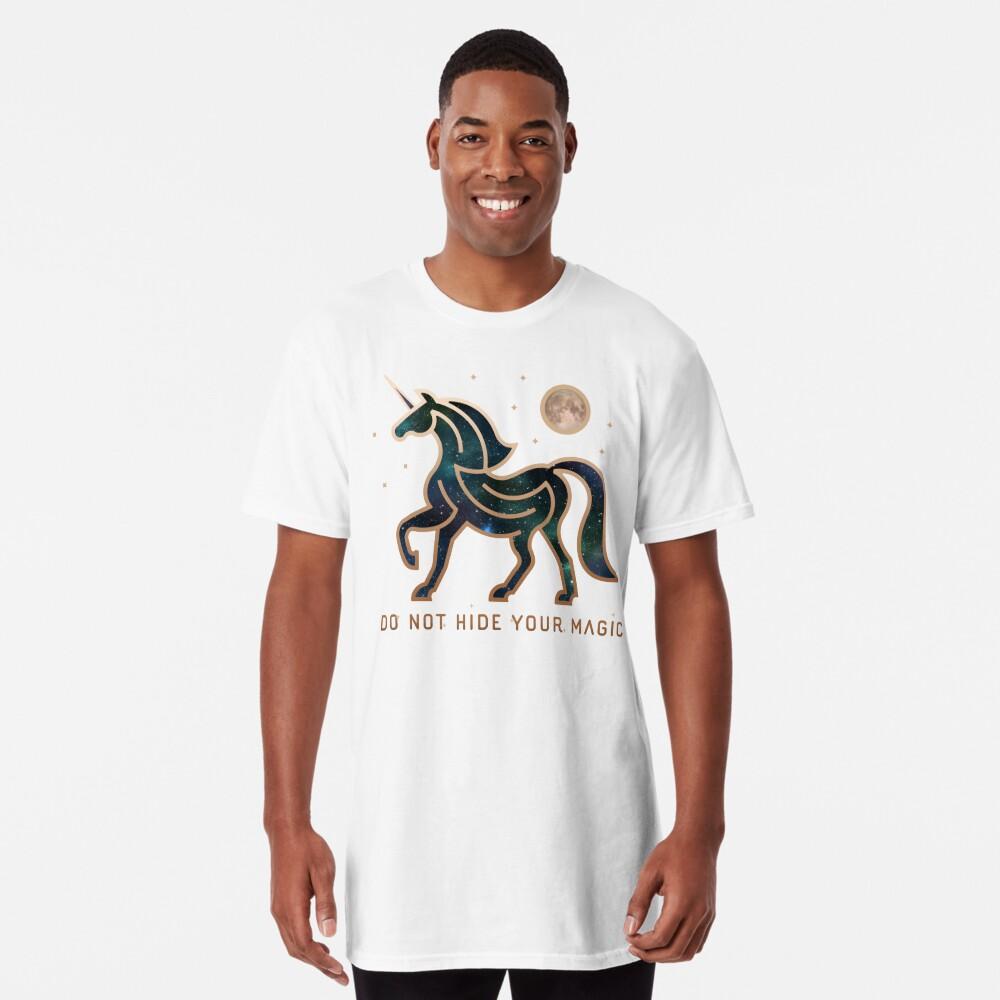 No ocultes tu magia - Unicornio galáctico Camiseta larga
