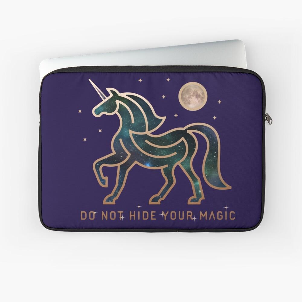 No ocultes tu magia - Unicornio galáctico Funda para portátil