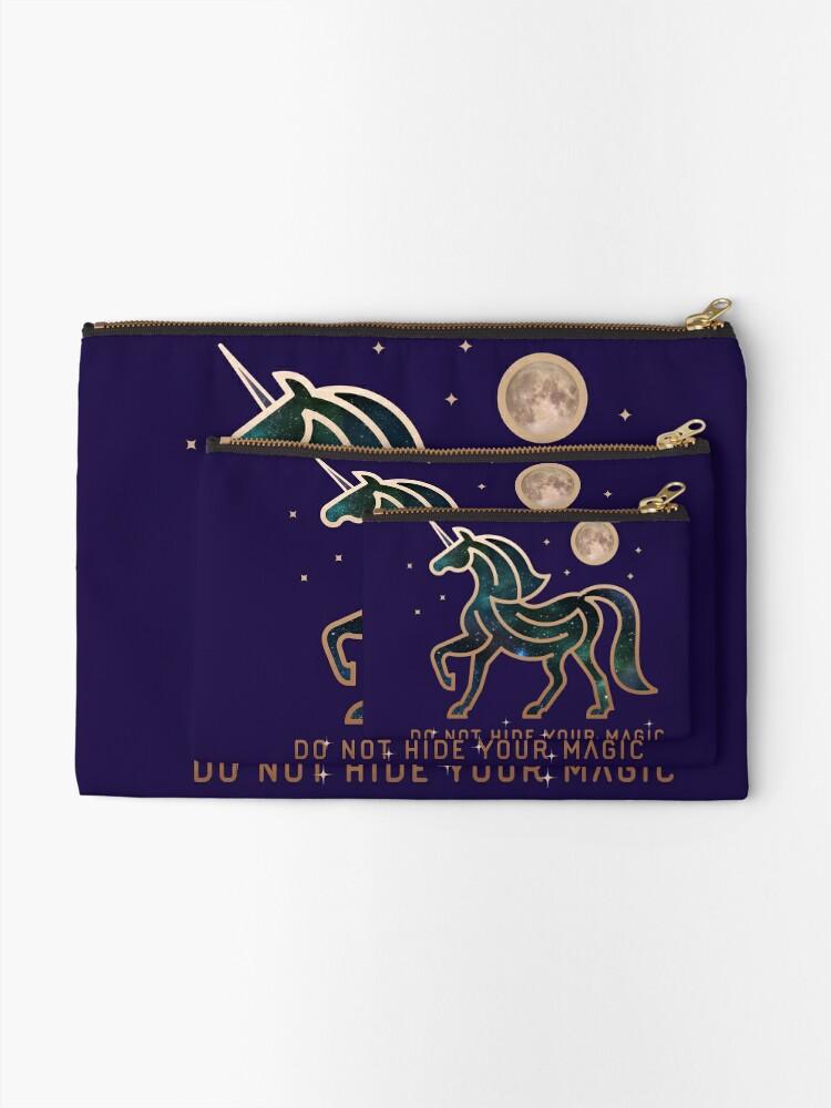 Vista alternativa de Bolsos de mano No ocultes tu magia - Unicornio galáctico