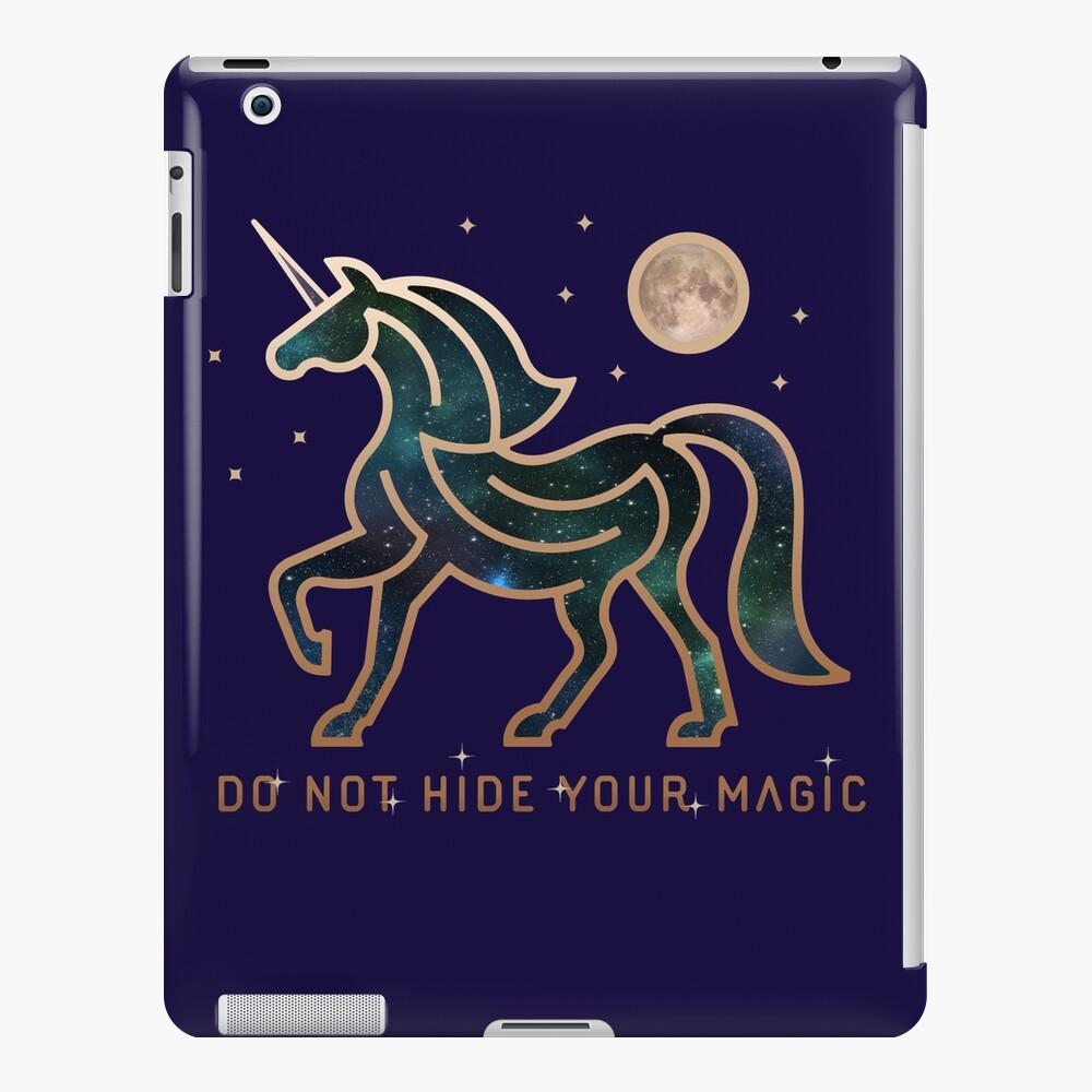 No ocultes tu magia - Unicornio galáctico Funda y vinilo para iPad