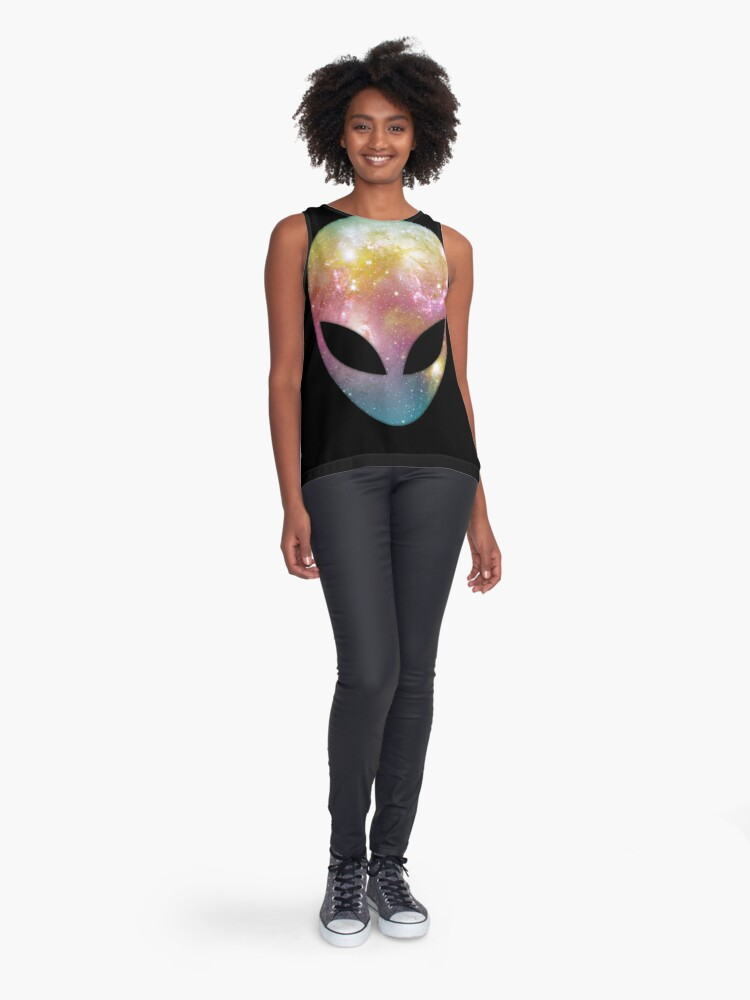 Alternate view of Space Alien Sleeveless Top