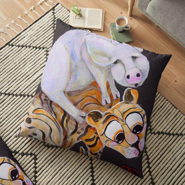 Piggy-Cat Ride! Floor Pillow