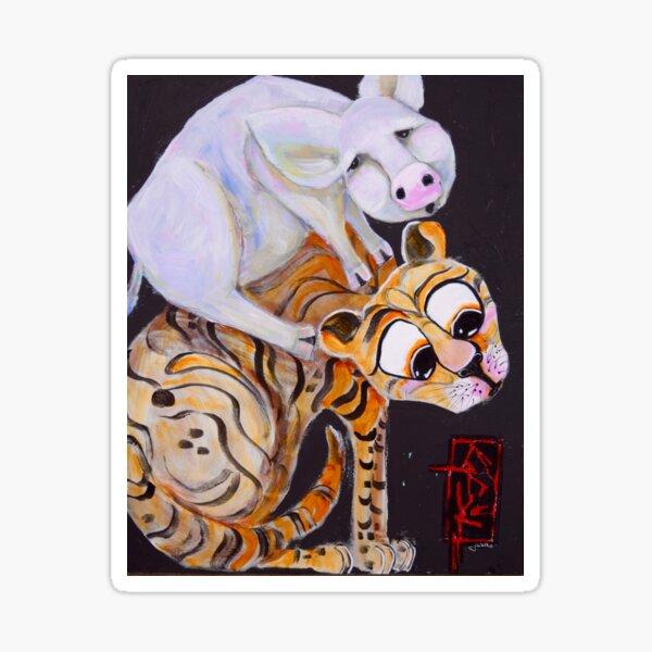 Piggy-Cat Ride! Sticker