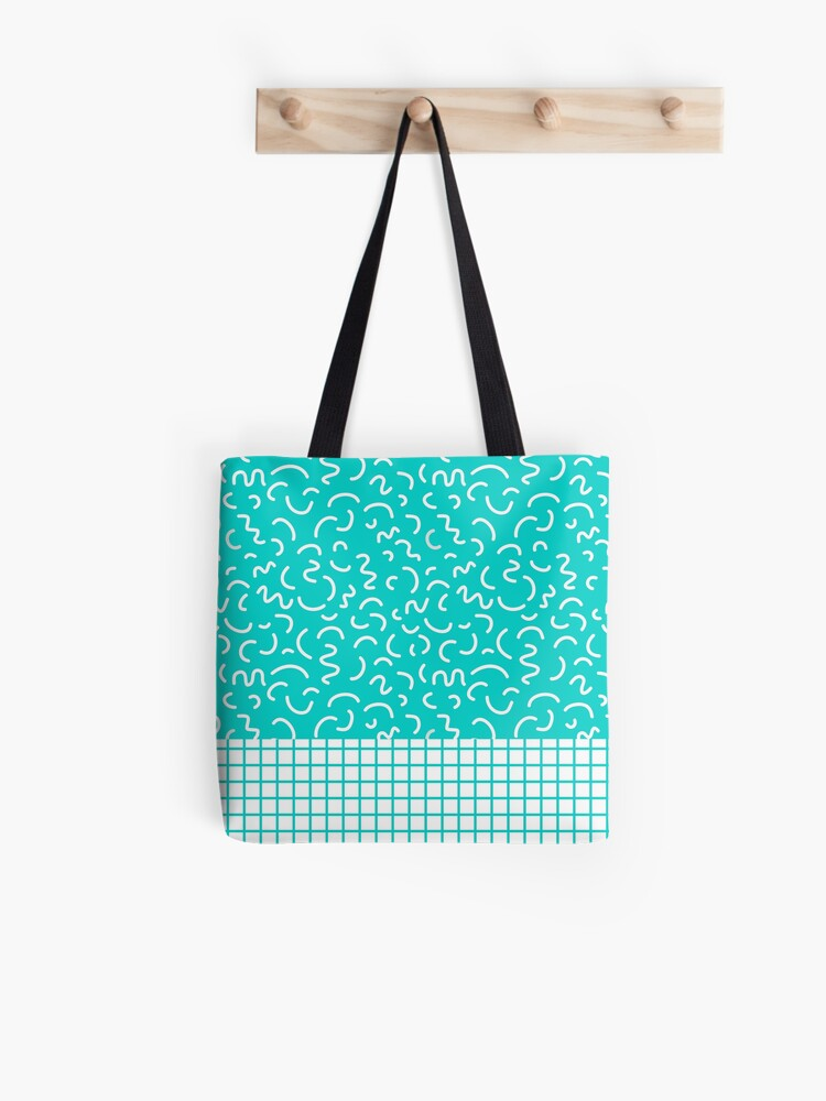 Hockney - Bright blue, memphis, 80s, 90s, swimming pool, summer turquoise  design cell phone, phone | Tote Bag