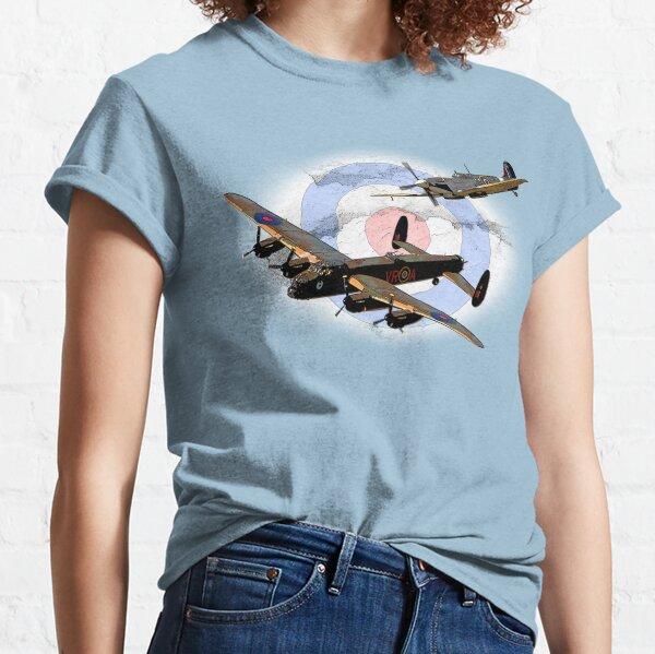 SPITFIRE AND LANCASTER aircraft Classic T-Shirt
