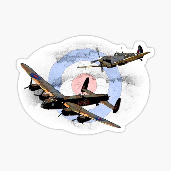 SPITFIRE AND LANCASTER aircraft Sticker