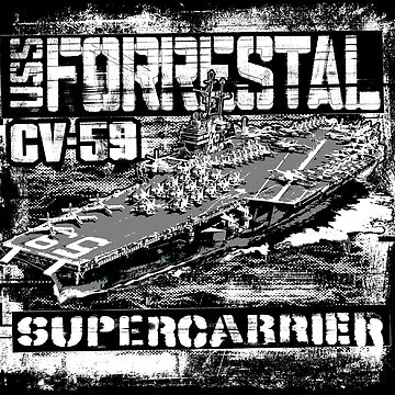 Aircraft carrier Forrestal by deathdagger