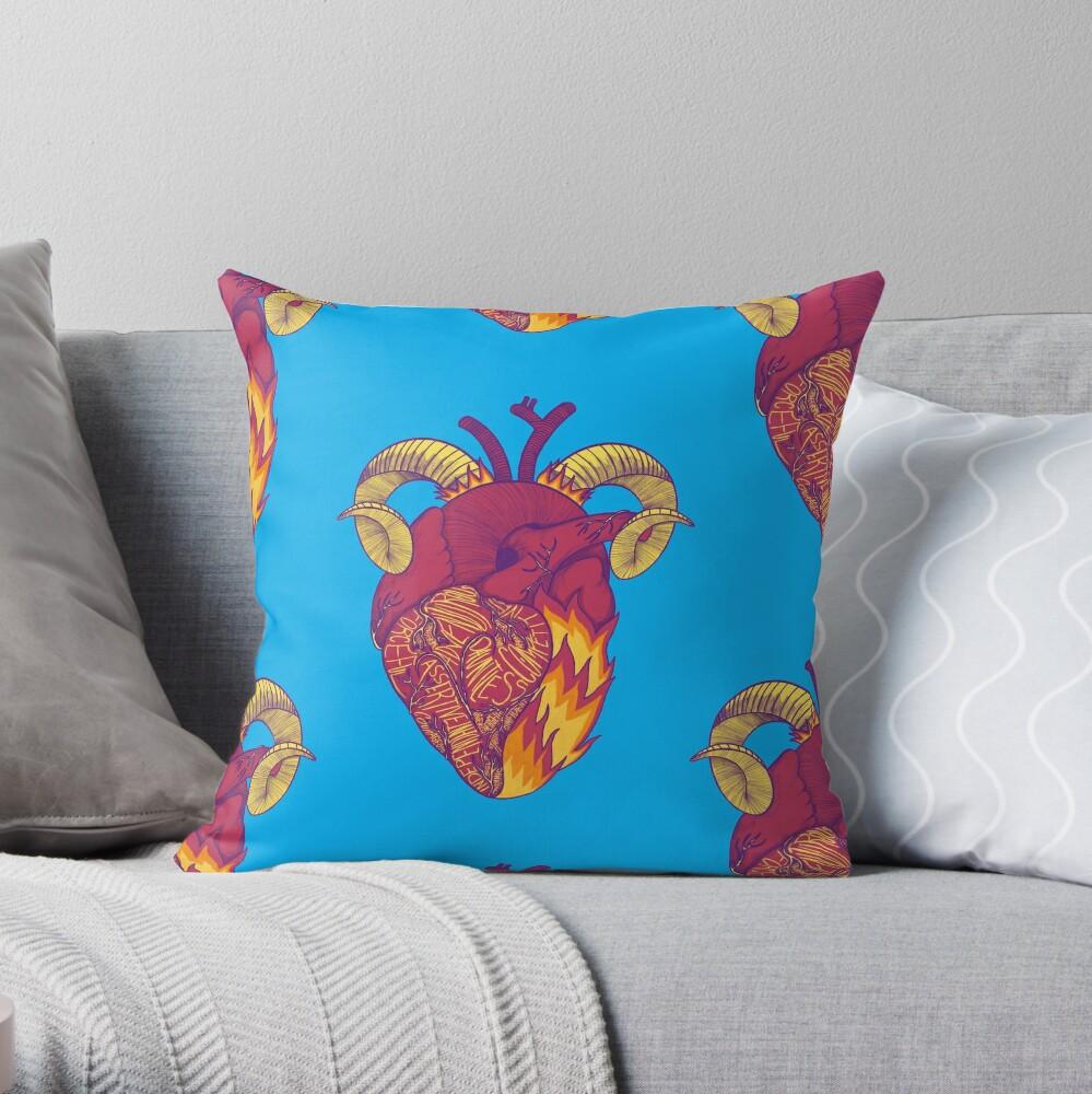 Aries Heart Throw Pillow