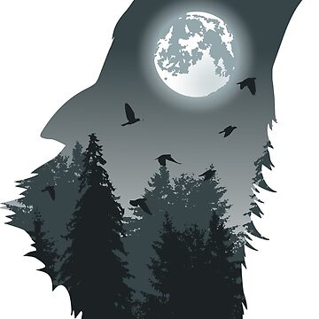 Wolf - silhouette by tshart