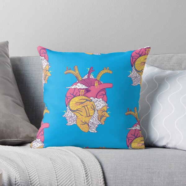 Gemini Heart Throw Pillow