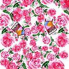 Akkordeon mit Rosen von AnnArtshock