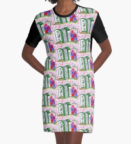 Akkordeon mit Rosen 2 T-Shirt Kleid