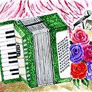 Akkordeon mit Rosen 2 von AnnArtshock
