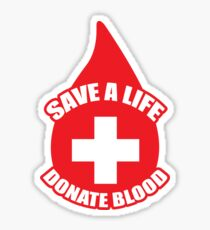 Donate Blood Sticker